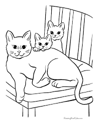 Cat Page To Print And Color