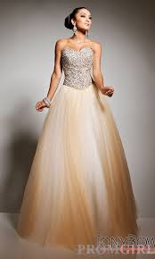 strapless gold ball gown by tony bowls ball gowns prom and gowns