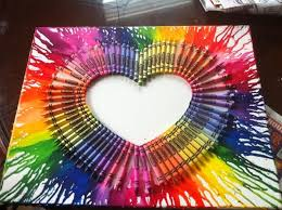 View In Gallery Multicolored Heart With Melted Crayons