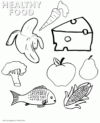 Healthy Food Coloring Pages Groups New