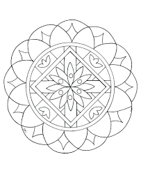 Easy Mandala Colouring Book Color Children From Gallery Printable Coloring Pages For Adults Full Size