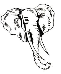 Elephant Head By D Inside Coloring Page
