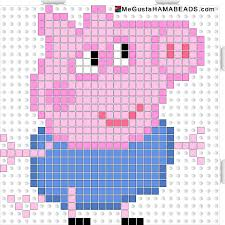Peppa Pig George Pumpkin Stencil by Peppa Pig George Pig Hama Beads Pattern Could Be Converted To
