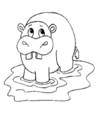 Hippo Coloring Pages Flodhest