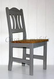 stuhl kiefer massiv grau gelaugt geölt küchenstuhl holzstuhl