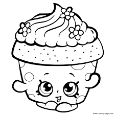 Shopkins Season 6 Cupcake Petal Coloring Pages Print Download 464 Prints