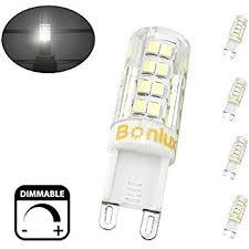 bonlux dimmable g9 led bulb 40w equivalent daylight 6000k g9 bi