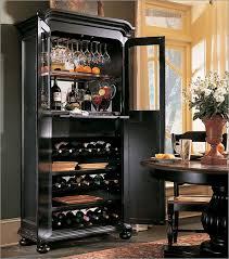 hooker wine cabinet in black furnishing table wood shelving