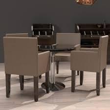 4 pcs bistro stuhl armlehne leder taupe gastro restaurant hotel kaffee cafe brasserie eiscafe kneipen gaststätten