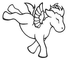 Baby Unicorn Coloring Page For Kids Printable Pages Preschoolers
