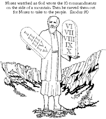Moses Ten Commandments Coloring Pages For Preschoolers Tablets Page