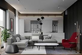 100 Modern Home Interiors HOME DESIGNING 3 Red And Grey In The Lap Of