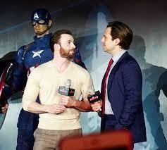 Chris Evans And Sebastian Stan At The Premiere Of Captain America Civil War In Beijing China April 19 2016