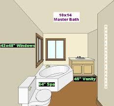 10x14 Master Bath Design Picture