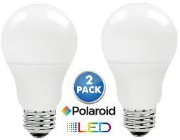 2 pack polaroid dimmable 100 watt equivalent warm white led bulbs