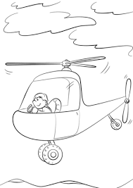 Click To See Printable Version Of Man Piloting A Helicopter Coloring Page