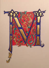 Romanesque M by Youssef Cohen From Margaret Morgan s Bible of