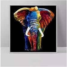 yangyangfbh leinwand kunstwerk bunte elefanten leinwand