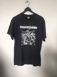 dead by dawn tshirt vintage t shirt black metal shirt death