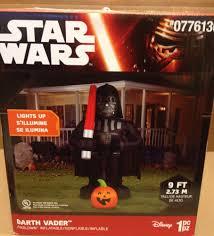 Halloween Airblown Inflatables by 8 U0027 Disney Star Wars Darth Vader Pumpkin Airblown Inflatable Gemmy