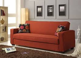 100 Sofa N More Shani Red Linen Adjustable Bed Futon Sleeper Pillows