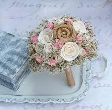 Brides Pink Rustic Wedding Bouquet