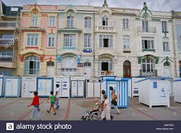 seafront hotels on the promenade wimereux côte opale stock photo