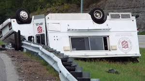 Salvation Army Truck Overturns In Nashville