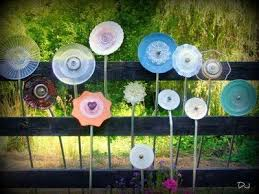 Up Cycled Dish Garden Art