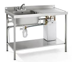 portable heated self contained washing up sink drainer unit