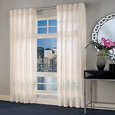 Bed Bath And Beyond Curtains And Drapes by Designer U0027s Select Maximus Sheer Inverted Pleat Window Curtain
