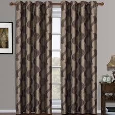 Crushed Voile Curtains Grommet by Savanna Pair Set Of 2 Jacquard Grommet Window Curtain Panels