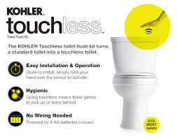 Kohler Touchless Faucet Battery by Kohler Touchless Toilet Flush Kit K 1954 0 The Home Depot