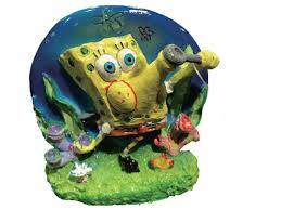Spongebob Aquarium Decorating Kit by Amazon Com Penn Plax Spongebob Blowing Bubbles Aerating Ornament