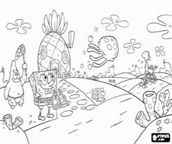 SpongeBob Patrick And Jellyfish Coloring Page Printable Game