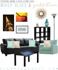 Living Room Decorating Ideas Black Leather Sofa by Best 25 Black Leather Couches Ideas On Pinterest Black Couch
