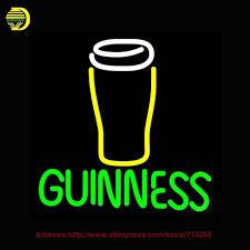 Neon Sign Guinness Glass Glass Beer Light Glass Tube Neon Signs
