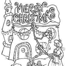 The Grinch Throws Christmas Letters Out Lights Coloring Pages