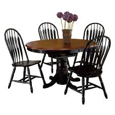 5 Piece Oval Dining Room Sets by Hooker Furniture Sanctuary 5 Piece Ebony U0026 Copper 60 In Dining