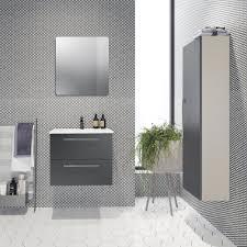 badezimmer hochschrank noida 44 farbe beige anthrazit 138 x 35 x 25 cm h x b x t