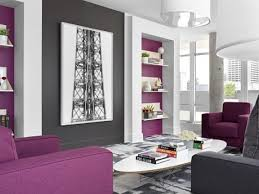 Grey And Purple Living Room Wallpaper by Purple Bedroom Accents Purple And Grey Wallpaper Purple And Grey