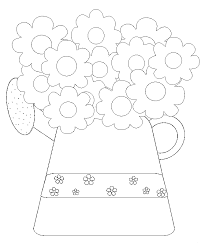 Coloring Flower In A Pot Related Pictures Printable Page For Kids