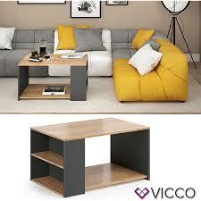 vicco couchtisch dario in anthrazit eiche wohnzimmer sofatisch kaffeetisch
