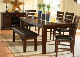 7am Country Style Dining Room Set With Bench