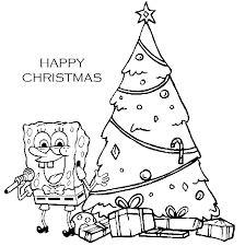 Spongebob Christmas Printable Coloring Pages 09