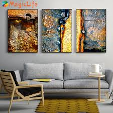 abstrakte rost wand kunst leinwand malerei poster drucken goldene rost nordic poster für wohnzimmer schlafzimmer home decor unframed