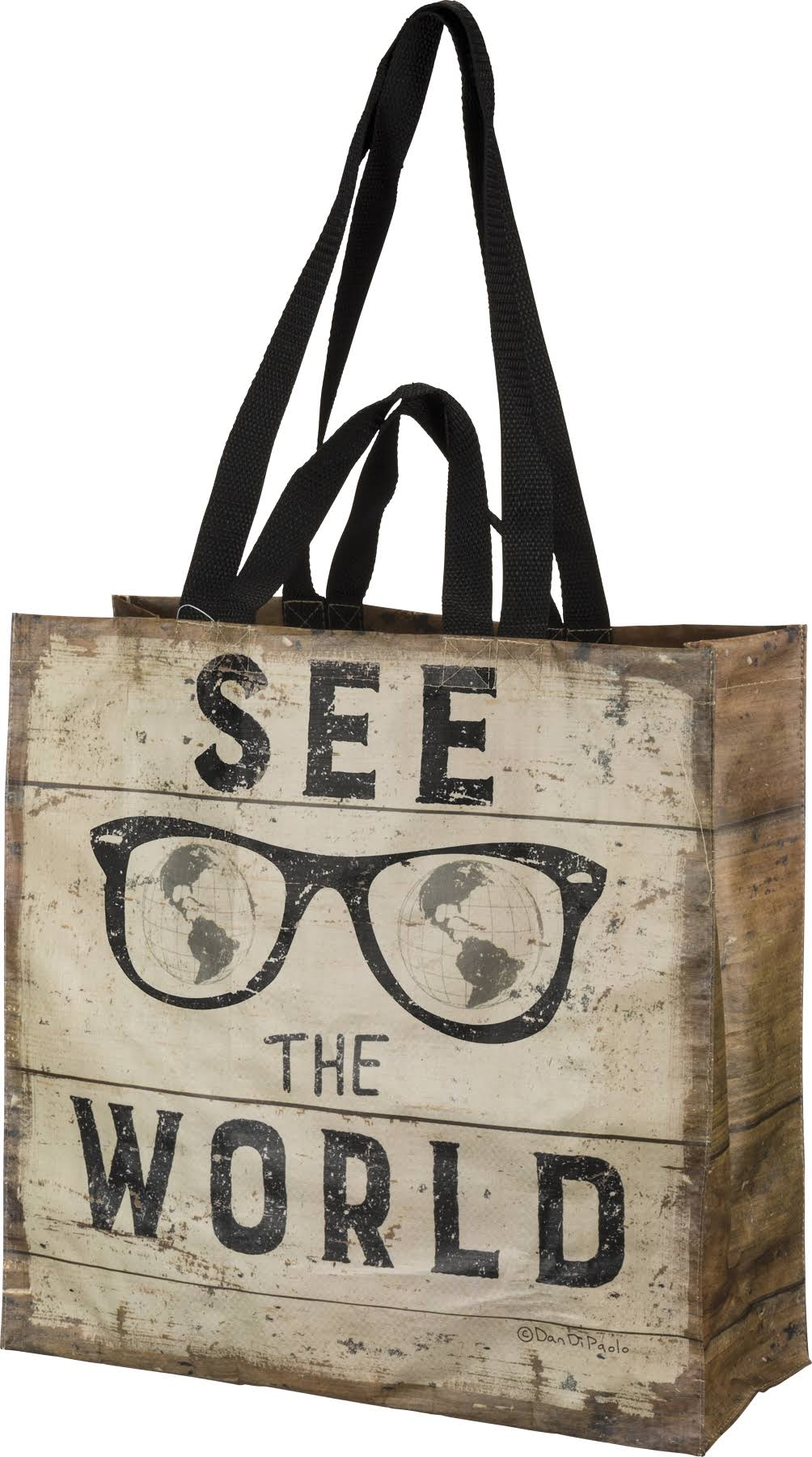 Primitives by Kathy Picnic Tote 'See The World' Tote Bag One-Size