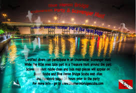 Halloween Treasure Hunt Clues Free by Halloween Party Scavenger Hunt Blue Heron Bridge Scuba