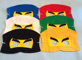 Halloween Half Mask Ideas by Ninja Felt Mask Set Include 6 Masks Knutselen Pinterest