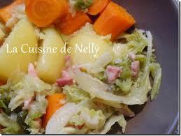 embeurrée de chou aux lardons pomme de terre et carotte la